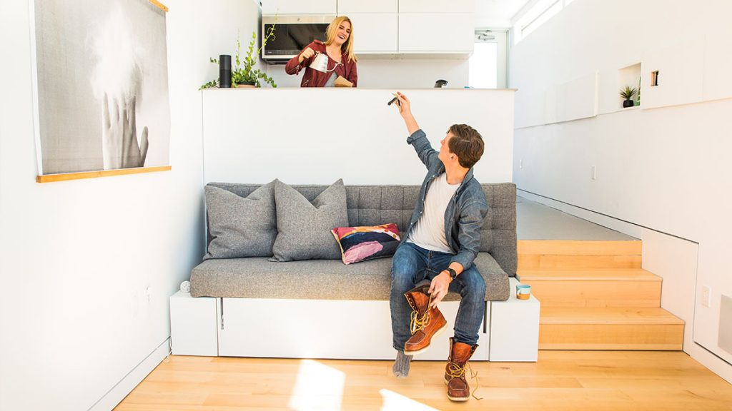 Tiny home seating area